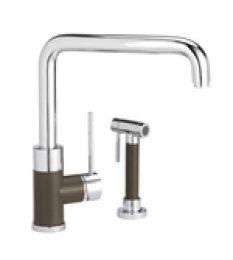 Blanco 441204 Purus I Single Handle Kitchen Faucet with Sidespray Cafe Brown