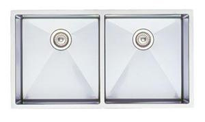 Blanco 513-689 Precision Large Double Kitchen Sink - Stainless Steel