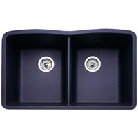 Blanco 440184 Diamond Equal Double Bowl Silgranit II Undermount Kitchen Sink - Anthracite
