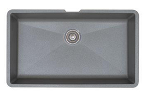 Blanco 440148 Precis Super Single Bowl Undermount Silgranit Kitchen Sink - Metallic Gray