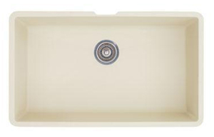 Blanco 440151 Precis Super Single Bowl Undermount Silgranit Kitchen Sink - Biscuit