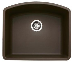 Blanco 440172 Diamond Single Bowl Silgranit II Undermount Kitchen Sink - Cafe Brown