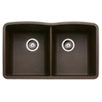 Blanco 440182 Diamond Equal Double Bowl Silgranit II Undermount Kitchen Sink - Cafe Brown