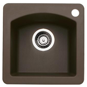 Blanco 440202 Diamond Silgranit II Bar Sink Dual Mount - Cafe Brown