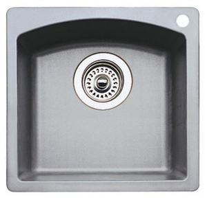 Blanco 440203 Diamond Silgranit II Bar Sink Dual Mount - Metallic Grey