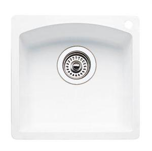 Blanco 440205 Diamond Silgranit II Bar Sink Dual Mount - White