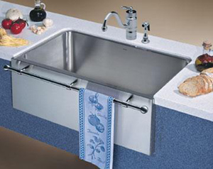 BLANCO 440294 Farmhouse Style Single Bowl Undermount Kitchen Sink   Satin  Nickel (Faucet And Accessories Not Included)