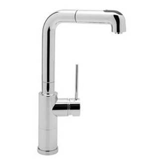 Blanco 440517 BlancoAcclaim Kitchen Faucet With Single Handle Pulldown Spray - Chrome