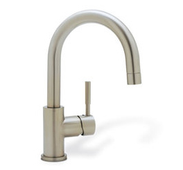 BLANCO 440954 Meridian Single Handle Bar Faucet - Satin Nickel