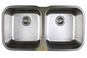 Blanco 441020 Stellar Equal Double Bowl Undermount Kitchen Sink - Stainless Steel