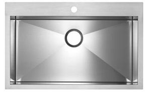Blanco 516194 MicroEdge Super Single Bowl Kitchen Sink with Ledge and Single Faucet Hole - Stainless Steel