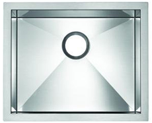 Blanco 516199 MicroEdge Single Bowl Kitchen Sink - Stainless Steel