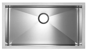 Blanco 516201 MicroEdge Super Single Bowl Kitchen Sink - Stainless Steel