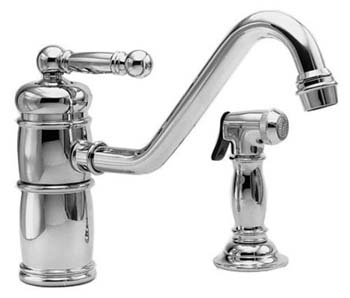 Newport Brass 941-15S Nadya Single Handle Kitchen Faucet with Side Spray  - Satin Nickel (Pictured in Polished Chrome)
