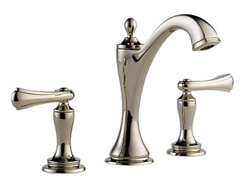Brizo 65385LF-PNLHP Charlotte Two Handle Widespread Lavatory Faucet - Brilliance Polished Nickel (Less Handles)