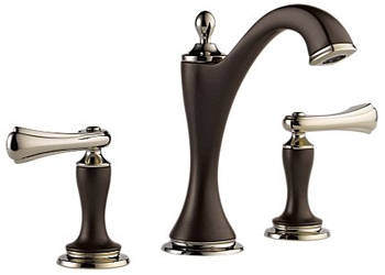 Brizo 65385LF-PNCOLHP Charlotte Two Handle Widespread Lavatory Faucet - Cocoa Bronze and Polished Nickel (Less Handles)
