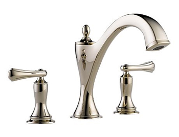 Brizo T67385-PNLHP Charlotte Two Handle Roman Tub Faucet Trim - Brilliance Polished Nickel (Less Handles)
