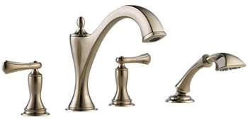 Brizo T67485-BNLHP Charlotte Two Handle Roman Tub Faucet Trim with Handshower - Brilliance Brushed Nickel (Less Handles)