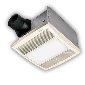 Broan QTR110L Ultra Silent Bath Ventilation Fan with Light - White