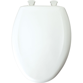 Church 1200SLOWT.000 Elongated Closed-Front Toilet Seat with Cover - White