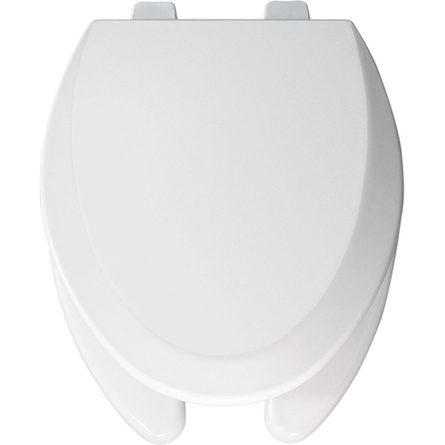 Bemis 1550TTT 006 Elongated Open-Front Toilet Seat with Cover - Bone (Pictured in White)