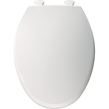 Church 1800EC.000 Elongated Closed-Front Toilet Seat with Cover - White