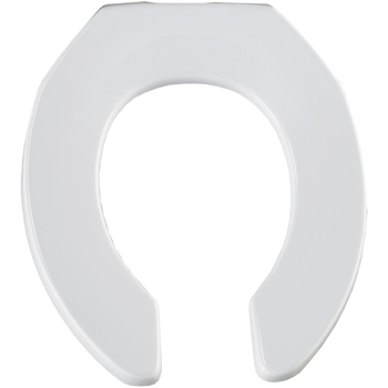 Church Elongated Open Front Toilet Seat Less Cover Black Pictu