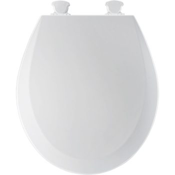 Church 500EC.062 Round Closed-Front Toilet Seat with Cover - Ice Grey (Pictured in White)
