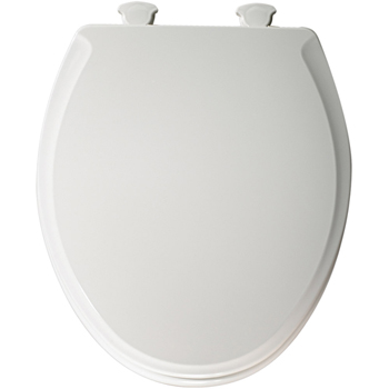 Church 640E2.000 Round Closed-Front Toilet Seat with Cover - White