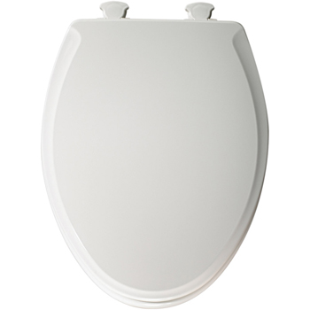 Church 685E2.000 Elongated Closed-Front Toilet Seat with Cover - White