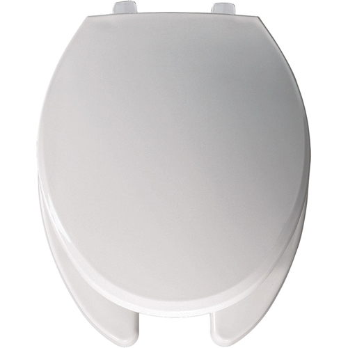 Bemis 7650T.000 Elongated Open-Front Toilet Seat with Cover - White