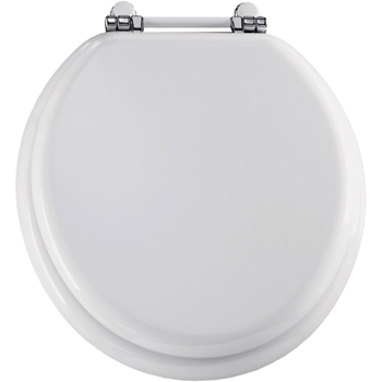 Church 960PCH.000 Retro Round Closed-Front Toilet Seat with Cover - White