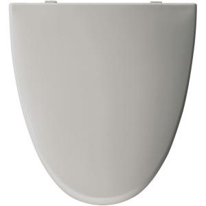 American Standard EL270.162 Elongated Closed-Front Toilet Seat with Cover - Silver