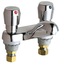 Chicago Faucets 802-665ABCP E-CAST Metering Lavatory Sink Faucet - Chrome