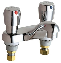 Chicago Faucets 802-V665ABCP E-CAST Metering Lavatory Sink Faucet - Chrome