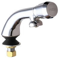 Chicago Faucets 807-665PSHABCP E-CAST Single Inlet Metering Faucet - Chrome