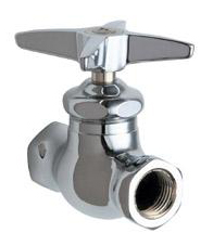 Chicago Faucets 45-CP Straight Stop Fitting - Chrome