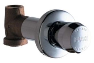 Chicago Faucets 770-665PSHCP Concealed In-Wall Straight Valve - Polished Chrome