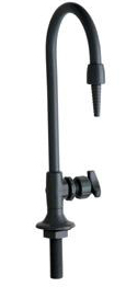 Chicago Faucets 869-BPVC Deck Mounted PVC Distilled Water Fitting - Black