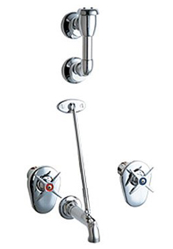 Chicago Faucets 911-ISCP Wall Mount Service Sink Fitting - Chrome