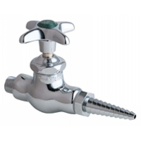 Chicago Faucets 937-CP Single Straight Cold Water Valve - Chrome