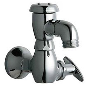 Chicago Faucets 952-1/2CP Wall Mounted Single Hole Inside Sill Faucet - Chrome