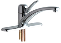 Chicago Faucets 2300-8CP Marathon Single Handle Deck Mounted Kitchen Faucet Chrome