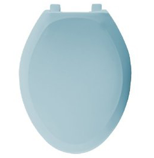 Bemis Seats 1200SLOWT 044 Elongated Closed Front With Cover Plastic Toilet Seat - Cerulean Blue
