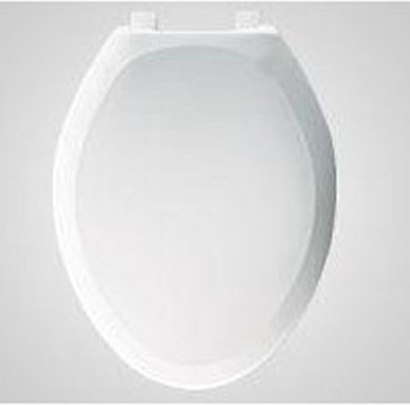 Bemis Seats 1200SLOWT 288 Elongated Plastic Closed Front With Cover Toilet Seat - Candlelight (Pictured in White)