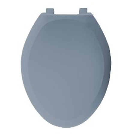 Bemis Seats 1200SLOWT 304 Elongated Closed Front With Cover Plastic Toilet Seat - Glacier Blue