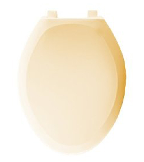 Bemis Seats 1200SLOWT 341 Elongated Closed Front With Cover Plastic Toilet Seat - Jersey Cream