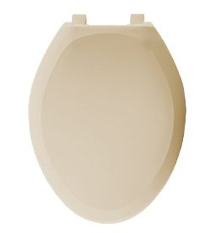 Bemis Seats 1200SLOWT 046 Elongated Closed Front With Cover Plastic Toilet Seat - Parchment