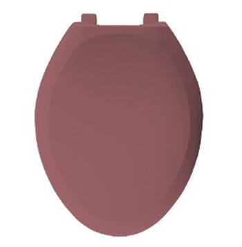 Bemis Seats 1200SLOWT 343 Elongated Closed Front With Cover Plastic Toilet Seat - Raspberry