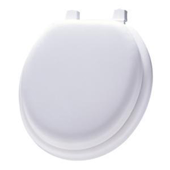 Church Seats 13EC Round Padded Round Toilet Seat 047 - Black (Picture shown in White)